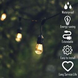 Modern Durable96ft LED Outdoor Waterproof Commercial String Lights Bulbs