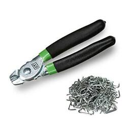 Hog Ring Pliers Kit 200 Pack of 3 4quot; Galvanized Steel Hog Rings Included $22.39