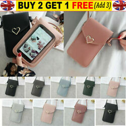 Cross body Touch Screen Cell Phone Wallet Shoulder Bag Leather Pouch Case US $6.99