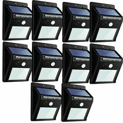 30 LED Outdoor Solar Motion Sensor 120° Wall Light Waterproof Garden Yard Lamp