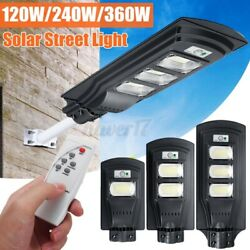 351LED Solar Street Light Radar Induction Commercial Outdoor Garden LampRemote