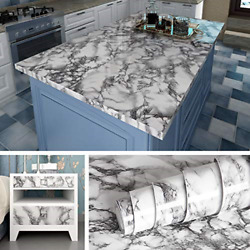 Livelynine Marble Wall Paper Kitchen Countertop Peel and Stick Wallpaper Marble $13.34