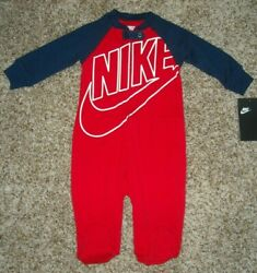 Nike Bodysuit Coverall Footed Boys 9 Months Long Sleeve $18.99