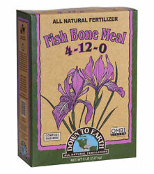 Down To Earth Fish Bone Meal 4 12 0 Fertilizer For All Plants 5 lbs $24.46