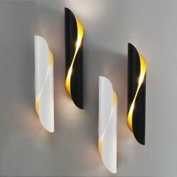 Modern Wall Lamp LED Aluminum AC Elegant Living Bedroom Decoration Black White $49.81
