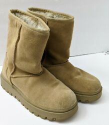 Skechers Outdoor Womens Boots Size 9 Brown Suede Sherpa Lined 45237 Winter $49.96