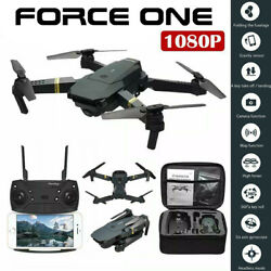 Force One E58 Drone Pro WI FI 1080P HD Camera Battery Foldable RC Quadcopter $51.42