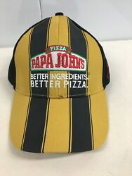 Papa Johns Pizza Special Edition Black And Yellow With Signature PRIORITY MAIL $16.99
