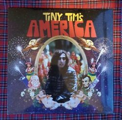 Tiny Tim#x27;s America LP by Tiny Tim red white blue vinyl 2016 limited sealed new $35.00