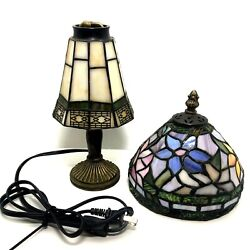 Vintage Tiffany Style Table Lamp and 2 Shades Small Lamp Night Light $38.75