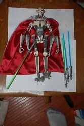 General Grievous 12quot; Star Wars Revenge of the Sith 1 6 Scale Hasbro $79.99