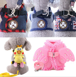 Cut Pet Small Dog Puppy Harness And Leash Set Vest Chest Strap S XL for S pets $8.59