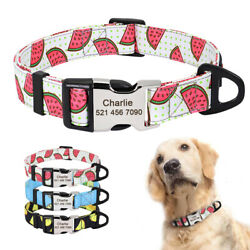 Cute Small Lagre Dog Personalized Collars Custom Dog Cat ID Name Tags Engraved $8.99