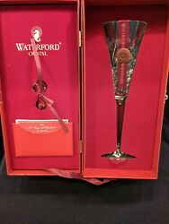 Waterford Crystal 12 Days of Christmas Champagne Flute 2 Turtle Doves w Box $35.00