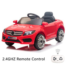12V Kids Ride On Car Electric Car W MP3 LED Lights Toy Gift Remote Control Red $110.39