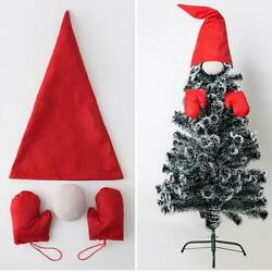 Christmas Tree Top Hat Nose Gloves Gnome Ornament Hanging DIY Xmas Decor $7.96