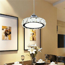 Modern Acrylic Chandelier Glass LED Pendant Hanging Lamp Ceiling Light Fixture $34.99