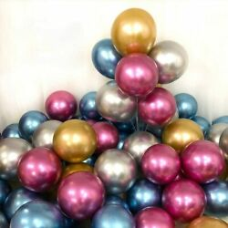 200PCs Metallic Chrome Party Balloon 12inch Birthday Xmas Party Latex Balloon $10.58