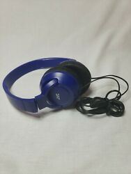 JVC Light Weight Wired Over Ear Foldable Headphones Headset with Mic Bass Blue $17.99
