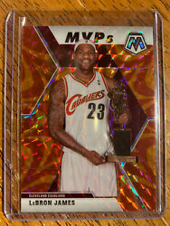2019 2020 Lebron James Panini Mosaic MVP#x27;s SP Reactive Orange Prizm #298 $40.00