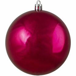 Shatterproof Shiny Pink Magenta UV Resistant Commercial Christmas Ball Ornament