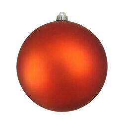 Northlight Shatterproof Burnt Orange Commercial Christmas Ball Ornament 8quot;