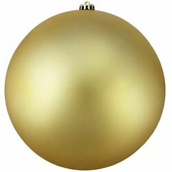 Northlight Shatterproof Matte Gold UV Resistant Commercial Christmas Ornament