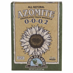 Down to Earth Azomite Granulated Trace Minerals Organic 0 0 0.2 5 lb $19.86