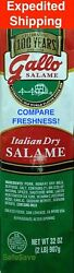 GALLO 2 POUNDS ITALIAN DRY SALAME SALAMI FRESH PRIORITY SHIPPING $25.69