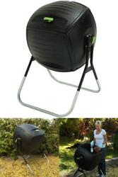 Sturdy Heavy Duty UV Protected 50 Gal. Rotating Compost Tumbler Easy to Operate $165.18