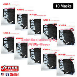 【 10 Pack 】 BLACK KN95 Mask Face Mask 5 Layer Protective Respirator $11.49