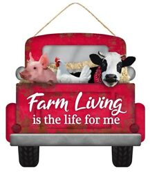 Farmhouse Red Truck Sign. NEW Country Decor 4 Christmas. $14.95