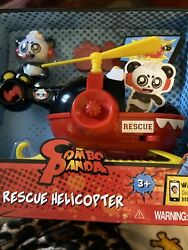 Jada Toys Ryan#x27;s World Helicopter with Combo Panda Figure 6quot; Feature Vehicle Red $20.99