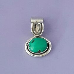 💦TURQUOISE OVAL SOLITAIRE VINTAGE PENDANT 925 SOLID STERLING SILVER $24.99