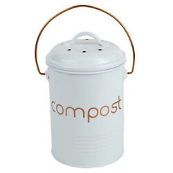 Home Basics Grove Compact Countertop Compost Bin White $22.69