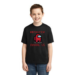 Theres an Imposter Among Us Its Red Boys Youth T Shirt $14.99