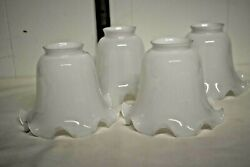 Vintage Light Replacement Shades Pure White set of 4 VGUC $26.75