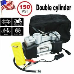 12V 150PSI Double Cylinder Air Compressor Pump High Power Car Auto Tire Inflator $34.85