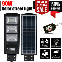 900000LM Commercial Solar Street Light LED Outdoor IP67 Dusk to Dawn Road Lamp