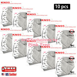 【 10 Pack 】 Gray Color KN95 Mask Face Mask 5 Layer Protective Respirator $11.98