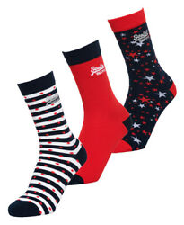 Superdry Womens Americana Star Socks Triple Pack Size 1Size $9.40