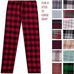 Men#x27;s Cotton Flannel Plaid Pajama Sleep Pants Super Soft Lounge Bottoms PJ#x27;s $9.89