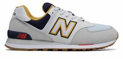 New Balance Men#x27;s 574 Shoes Grey with Navy $59.99