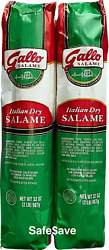 GALLO 4 POUNDS ITALIAN DRY SALAME SALAMI 2 x 2=64oz FREE PRIORITY SHIP $43.29
