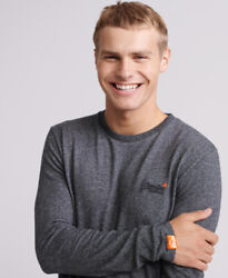Superdry Mens Orange Label Twill Texture Long Sleeve Top $19.71