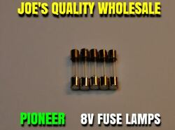5 FUSE TYPE LAMPS 8v 200mA 250mA VINTAGE STEREO RECEIVER Pioneer METER DIAL $7.49