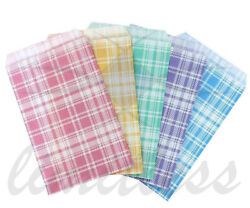 PAPER GIFT BAGS amp; JEWELRY BAGS 5 COLORS AND 4 SIZES PAPER BAGS PLAID ASSORTED $8.55