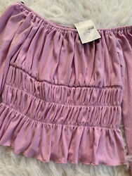 Brand New Plunging Smocked Top Purple Lavender Size S Forever 21 $14.70