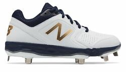 New Balance Low Cut Fresh Foam Velo1 Metal Softball Cleat Womens Shoes Navy with $19.99