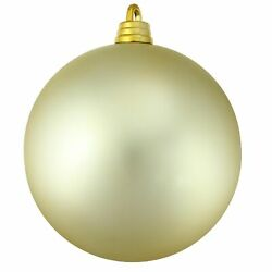 Northlight Shatterproof Matte Champagne Commercial Christmas Ball Ornament 12quot;